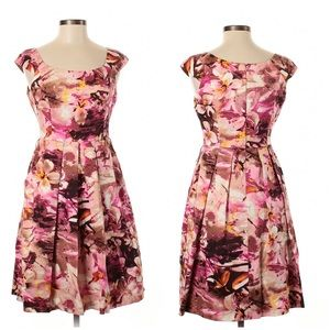 Muse Floral Fit & Flare Dress with Pockets Size 6